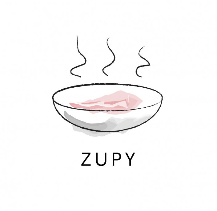 Soup watercolor icon