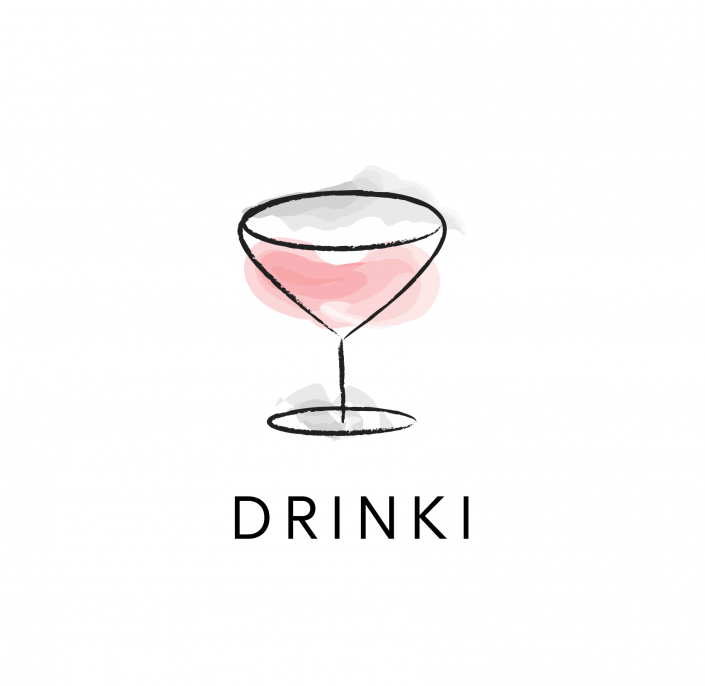 Drinks icon watercolor